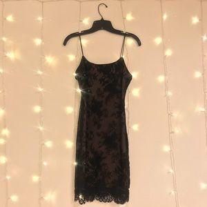 Lace Body Con Dress Spaghetti Straps
